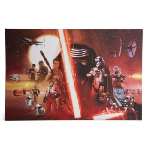 View Star Wars Episode VII Montage Canvas Print (W)900mm (H)600mm details
