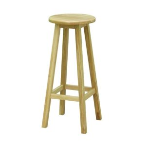 Highworth Oak Effect Bar Stool (H)770mm (W)330mm
