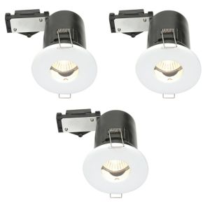 Diall Fire Rated White Gloss LED Fixed Downlight 3.5 W  Pack of 3