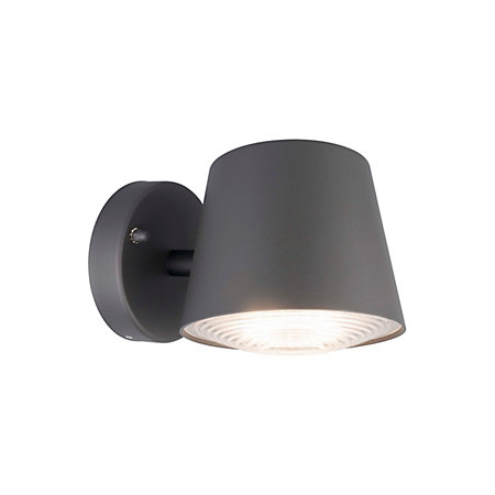 Blooma barba dark grey mains powered external wall light for Housse blooma