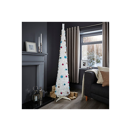 6ft pop up white pre lit pre decorated christmas tree departments diy at b q. Black Bedroom Furniture Sets. Home Design Ideas