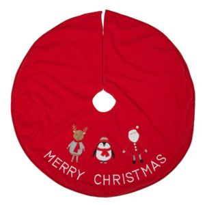 Red Christmas Characters Tree Skirt