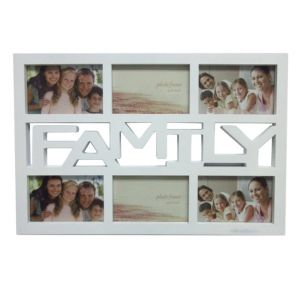 White Multi Aperture Plastic Multi Aperture Photo Frame (H)330mm x (W)480mm
