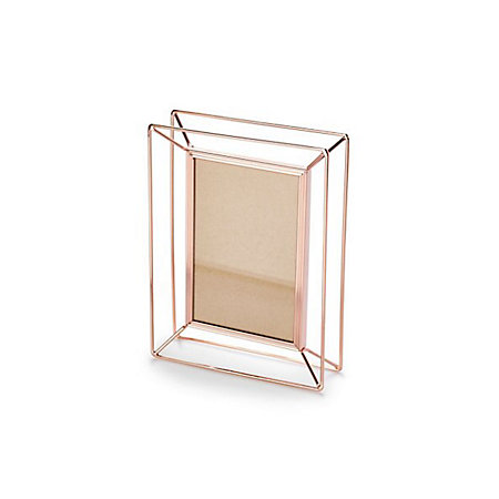 rose gold effect wire metal picture frame h 204mm x w 43mm departments diy at b q. Black Bedroom Furniture Sets. Home Design Ideas