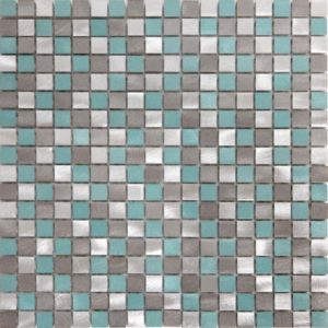Image of Adrano Grey Aluminium Mosaic tile (L)304mm (W)292mm