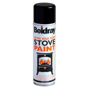 Beldray Black Matt Stove Spray Paint