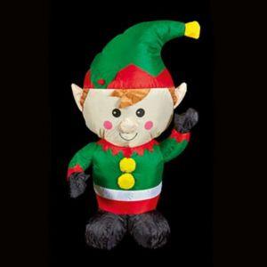 1.1m (H) LED Christmas inflatable Elf