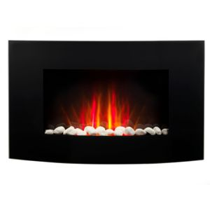 Image of Beldray Black & Tempered LED Remote control Electric fire