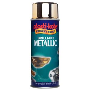 View Plasti-Kote Brilliant Metallic Gold Metallic Effect Spray Paint 400ml details