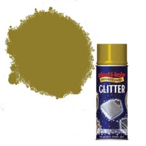 View Plasti-Kote Glitter Gold Glitter Effect Spray Paint 200ml details