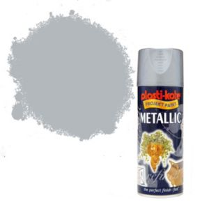 View Plasti-Kote Projekt Paint Pewter Metallic Effect Spray Paint 400ml details