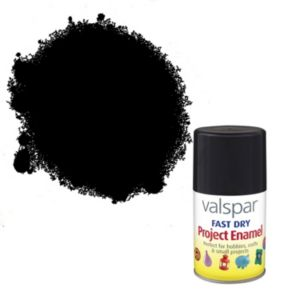 Valspar Black Matt Enamel Spray Paint 100 ml