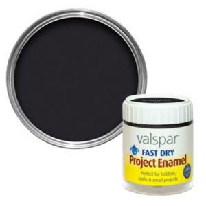 Photo of Valspar black gloss enamel paint 59 ml