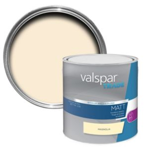 Image of Valspar trade Trade Magnolia Matt Wall & ceiling paint 2.5L