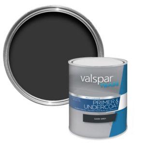 Image of Valspar trade Trade Dark grey Metal & wood Primer 1L