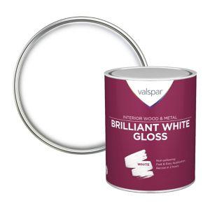 Image of Valspar Pure brilliant white Gloss Paint 0.75L