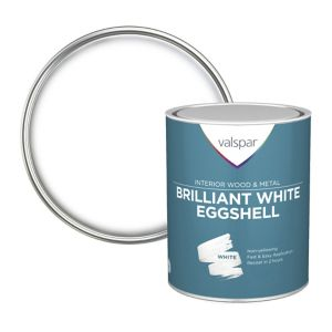 Image of Valspar Pure brilliant white Eggshell Paint 0.75L