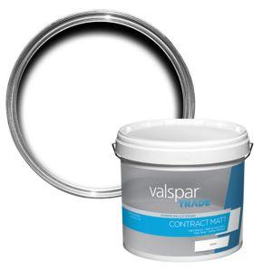 Image of Valspar trade Pure brilliant white Contract matt Emulsion paint 12L