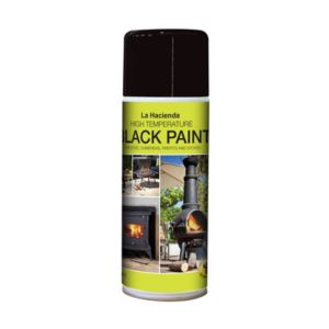 View La Hacienda Black Matt Stove Paint 400ml details