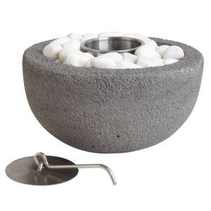View La Hacienda Arta Stainless Steel/Concrete Gel Burner details
