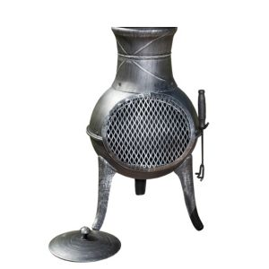 View La Hacienda Panama Cast Iron & Steel Mix Chimenea details