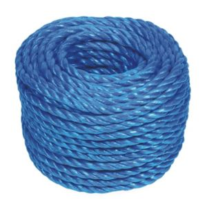 Image of 4Trade Hardwearing Polypropylene Stranded Rope 8mm x 30M