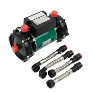 View Salamander Pumps Black & Green Shower Pump (H)160mm (W)145mm (L)263mm details