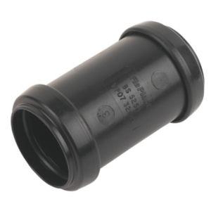 Image of Floplast Push Fit Waste Coupling (Dia)32mm Black