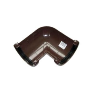 View Floplast Half Round 90 ° Gutter Angle (Dia)112 mm, Brown details