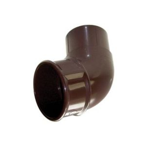 View Floplast Round 112.5 ° Gutter Downpipe Offset Bend (Dia)68 mm, Brown details
