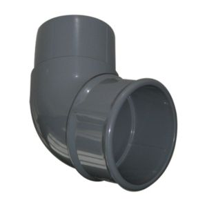 View Floplast Grey PVCu Round Downpipe Offset Bend (Dia)68mm details