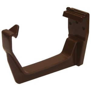 View Floplast Square Gutter Fascia Bracket (Dia)114 mm, Brown details