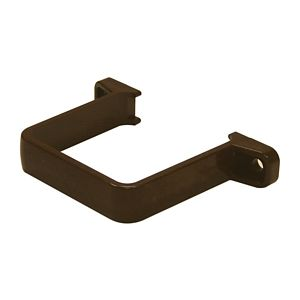 View Floplast Square Gutter Downpipe Clip (Dia)65 mm, Brown details