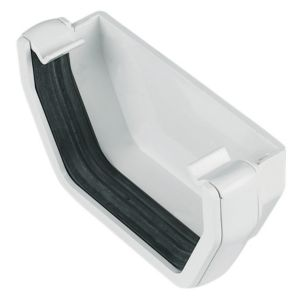 View Floplast Square Gutter Stop End (W)114 mm, White details