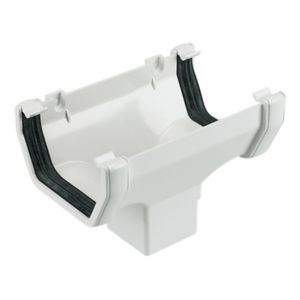 View Floplast Square Running Outlet (W)114 mm, White details