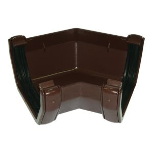 View Floplast Square 135 ° Gutter Angle (Dia)114 mm, Brown details