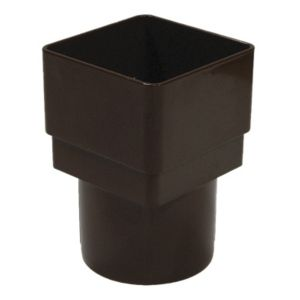 View Floplast Brown PVC Downpipe Adaptor details