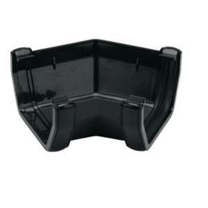 View Floplast Square 135 ° Gutter Angle (Dia)114 mm, Black details