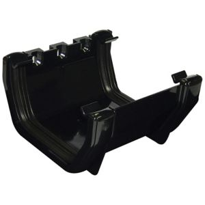 View Floplast Square Gutter Union Bracket (W)114 mm, Black details