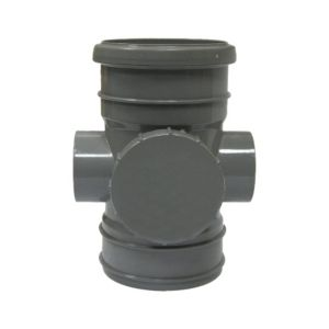 View Floplast Ring Seal Soil Access Pipe (Dia)110mm, Grey details