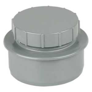 View Floplast Ring Seal Soil Access Cap (Dia)110mm, Grey details