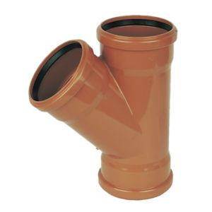 View Floplast Underground Drainage Equal Junction (Dia)110mm, Terracotta details