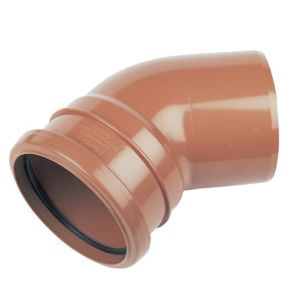 View Floplast Terracotta Bend (Dia)110mm (L)132mm details