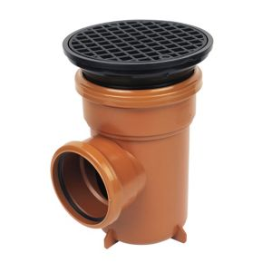 View Floplast Underground Drainage Bottle Gully Circular Grid (Dia)110mm, Terracotta details