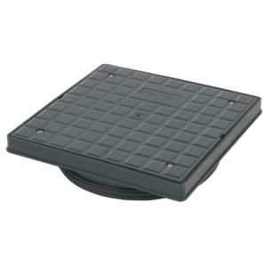 View Floplast Underground Drainage Square Screw Down Cover (Dia)340mm, Black details