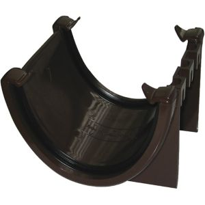 View Floplast Hi-Cap Gutter Union Bracket (Dia)115 mm, Brown details