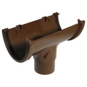 View Floplast Hi-Cap Gutter Running Outlet (Dia)115 mm, Brown details
