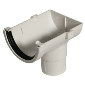 View Floplast Miniflo Gutter Stop End Outlet (Dia)76 mm, White details