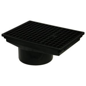 View Floplast Underground Drainage Rectangular Hopper & Grid (Dia)110mm, Black details