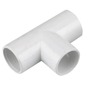 Image of Floplast Overflow Waste Equal Tee (Dia)21.5mm White